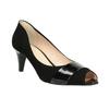 Kožené lodičky s otvorenou špicou bata, čierna, 623-6603 - 13