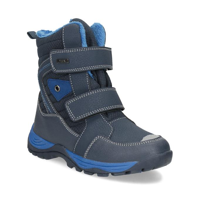 Detská zimná obuv na suchý zips mini-b, modrá, 491-9653 - 13