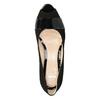 Kožené lodičky s otvorenou špicou bata, čierna, 623-6603 - 15