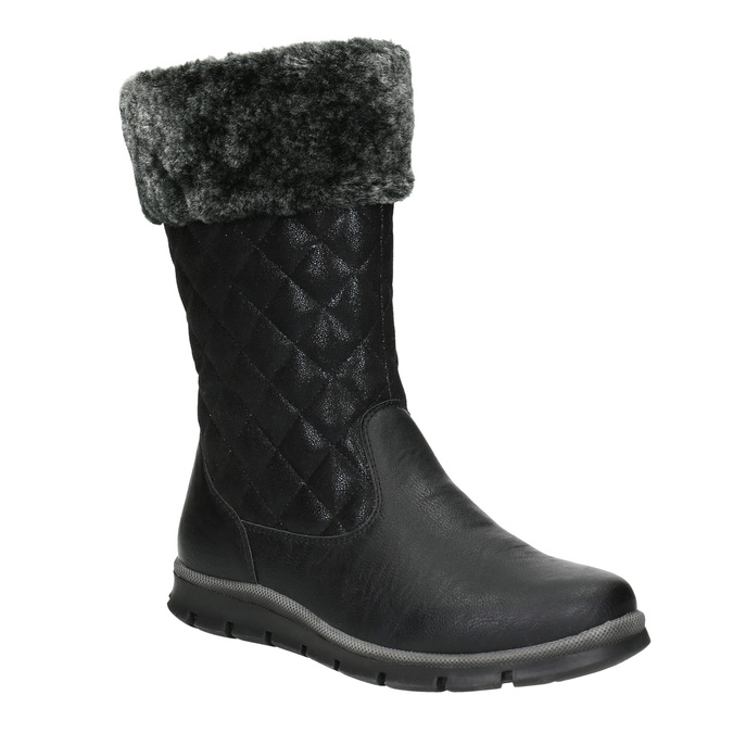 Dievčenská zimná obuv mini-b, čierna, 391-6656 - 13
