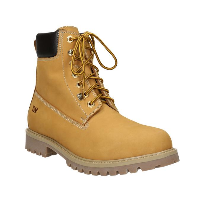Kožená členková obuv weinbrenner, žltá, 896-8669 - 13