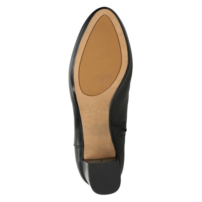 Kožené čižmy na stabilnom podpätku clarks, čierna, 794-6034 - 17