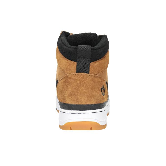 Pánska kožená členková obuv k1x, hnedá, 806-4552 - 16