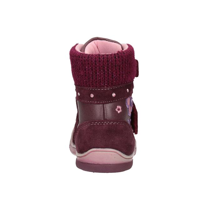 Kožená detská zimná obuv bubblegummers, červená, 124-5602 - 16