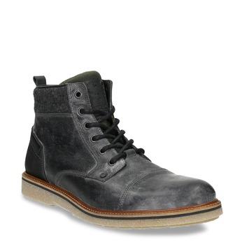 Kožená pánska členková obuv bata, šedá, 896-2669 - 13