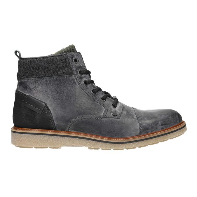 Kožená pánska členková obuv bata, šedá, 896-2669 - 26