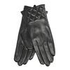 Dámske kožené rukavice čierne bata, čierna, 904-6131 - 13