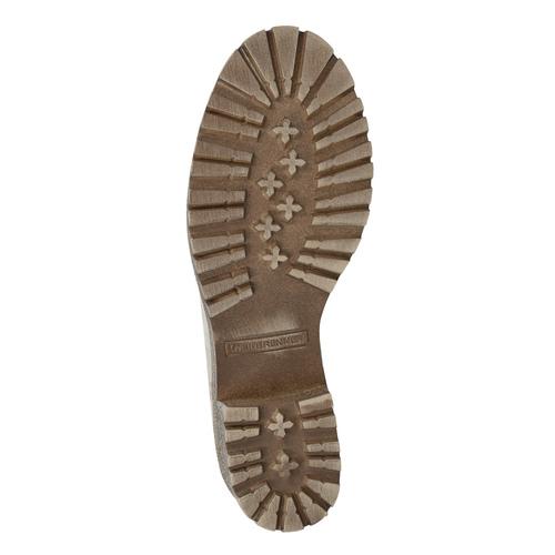 Kožená zimná obuv s kožúškom bata, béžová, 696-3336 - 18