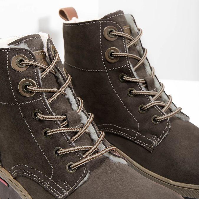 Kožená dámska zimná obuv weinbrenner, hnedá, 596-4666 - 14