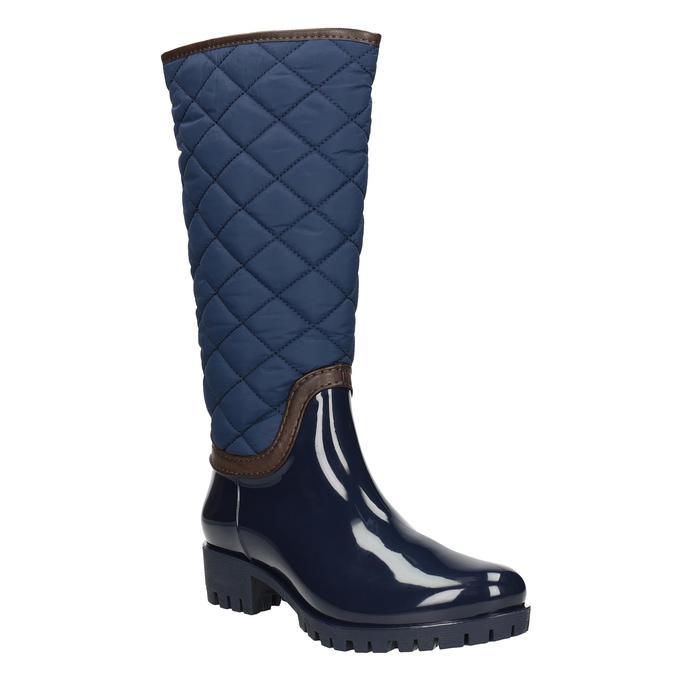 Modré dámske čižmy bata, modrá, 592-9402 - 13
