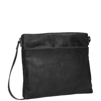 Kožená dámska Crossbody kabelka bata, čierna, 963-6192 - 13