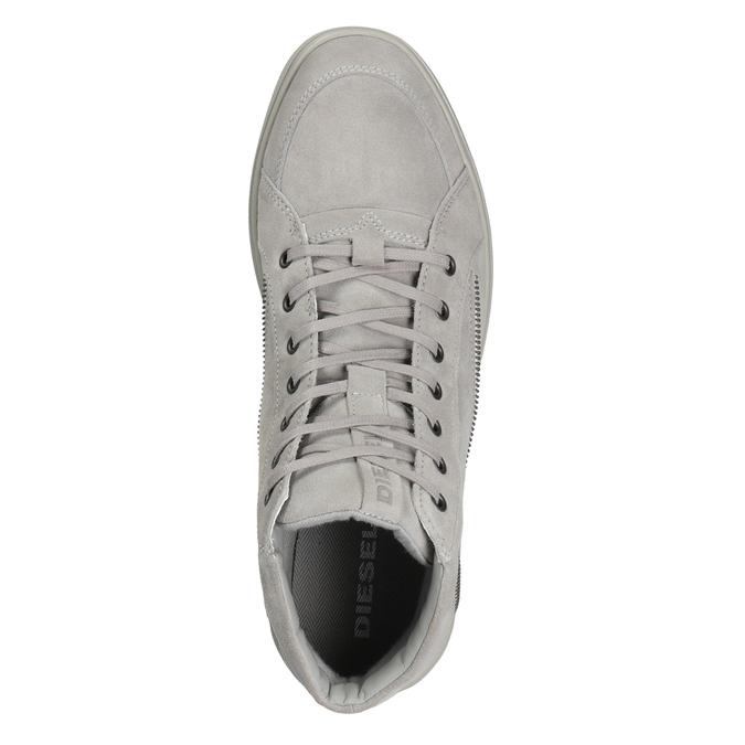 Pánska kožená členková obuv diesel, šedá, 803-2629 - 15