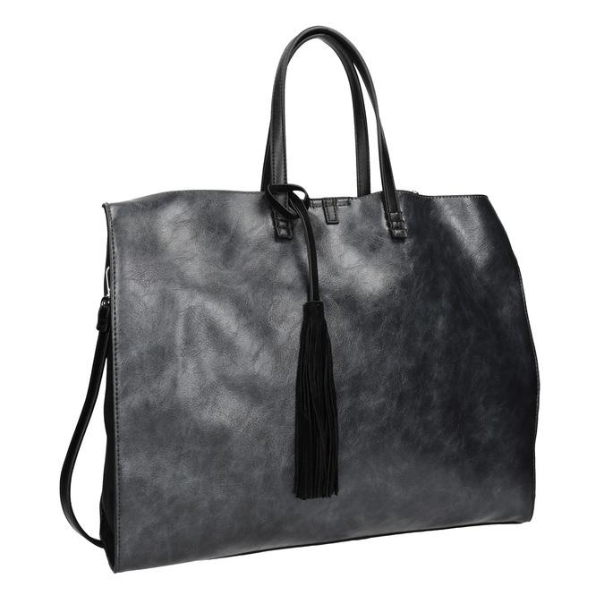 Dámská kabelka so strapcom bata, čierna, 961-9200 - 13
