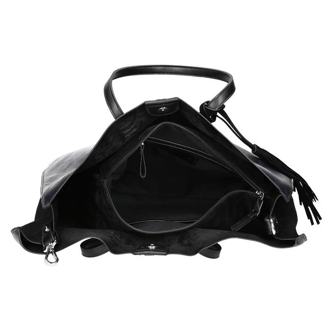 Dámská kabelka so strapcom bata, čierna, 961-9200 - 15