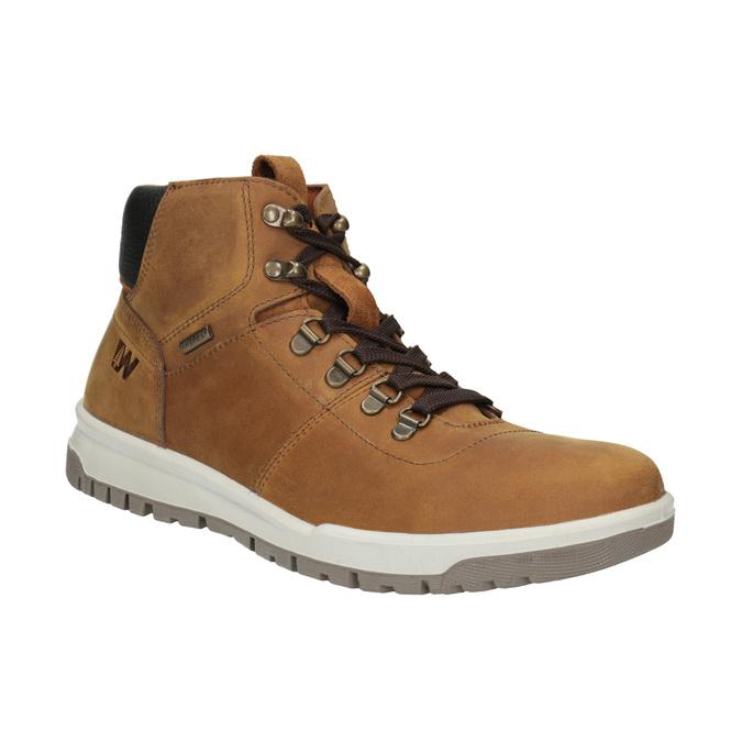 Kožená pánska členková obuv weinbrenner, hnedá, 896-3701 - 13