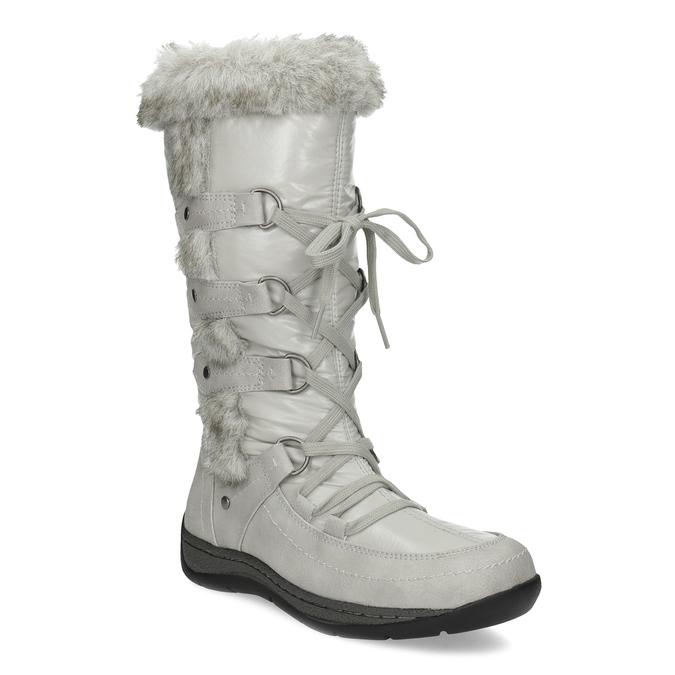 Zimné snehule s kožúškom bata, šedá, 599-8618 - 13