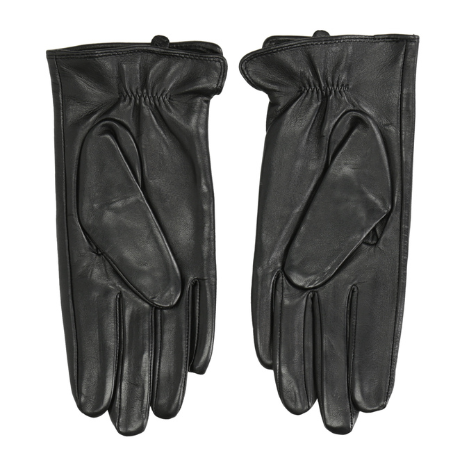 Dámske kožené rukavice bata, čierna, 904-6129 - 16
