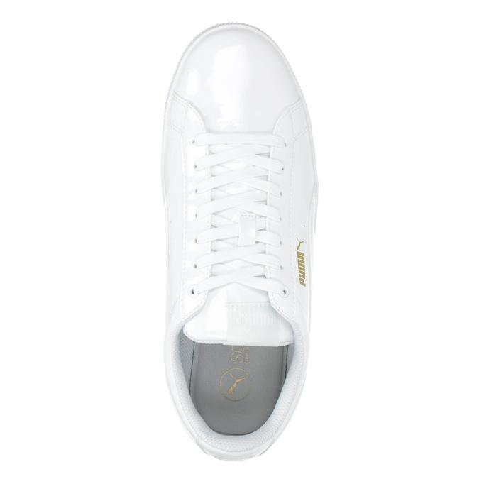 Biele dámske tenisky na flatforme puma, biela, 501-1159 - 15
