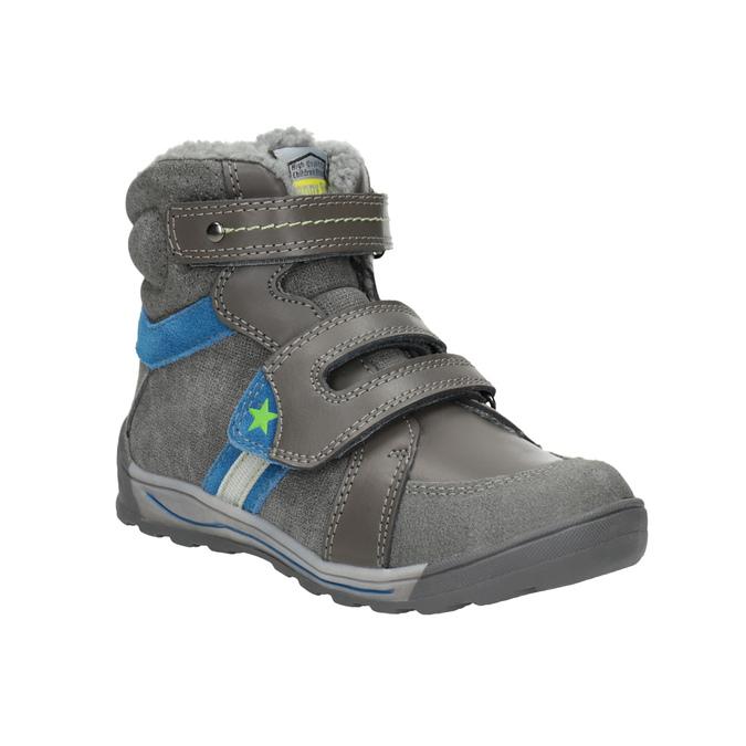 Detská zimná obuv mini-b, šedá, 291-2627 - 13