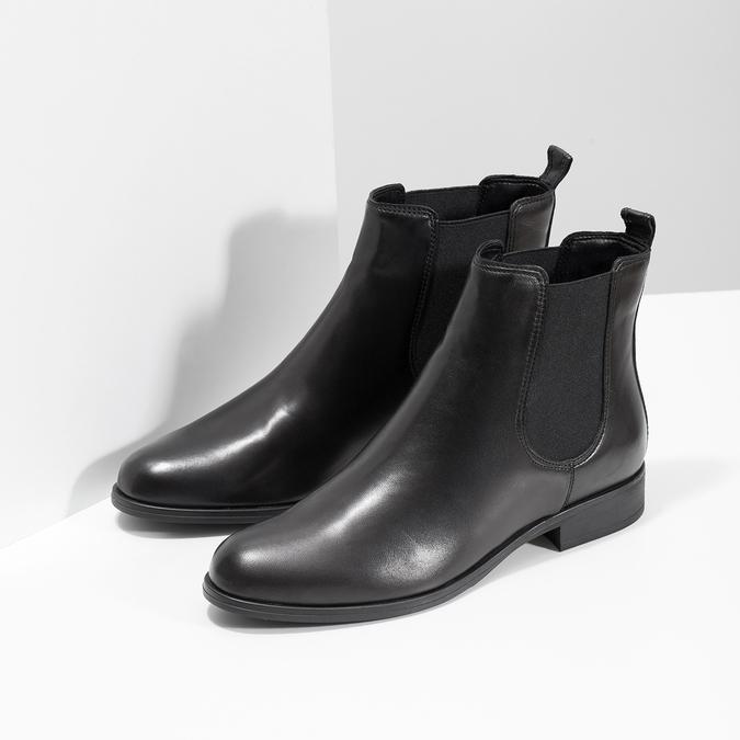 Dámske kožené Chelsea Boots bata, čierna, 594-6661 - 26