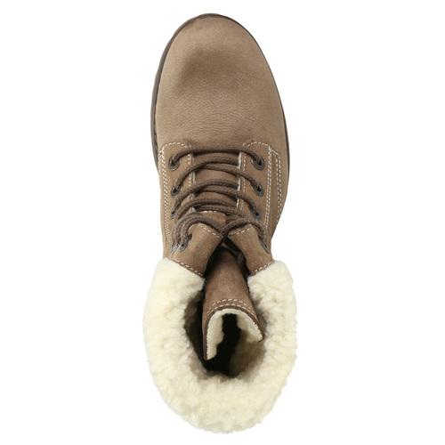 Kožená dámska zimná obuv weinbrenner, hnedá, 696-4336 - 26
