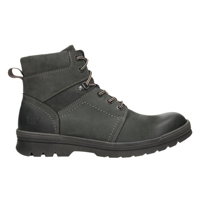Kožená členková obuv weinbrenner, šedá, 896-2703 - 26