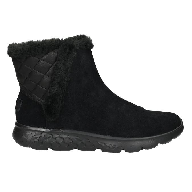 Dámska obuv z brúsenej kože skechers, čierna, 503-6326 - 16