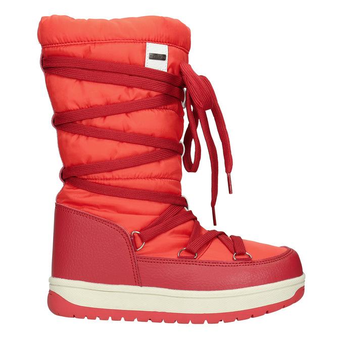 Červené dámske snehule bata, červená, 599-5616 - 15