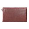 Kožená listová kabelka s prešitím bata, červená, 966-5285 - 16