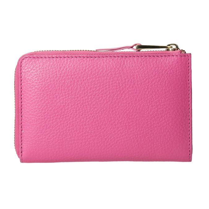 Ružová kožená peňaženka bata, ružová, 946-5284 - 16