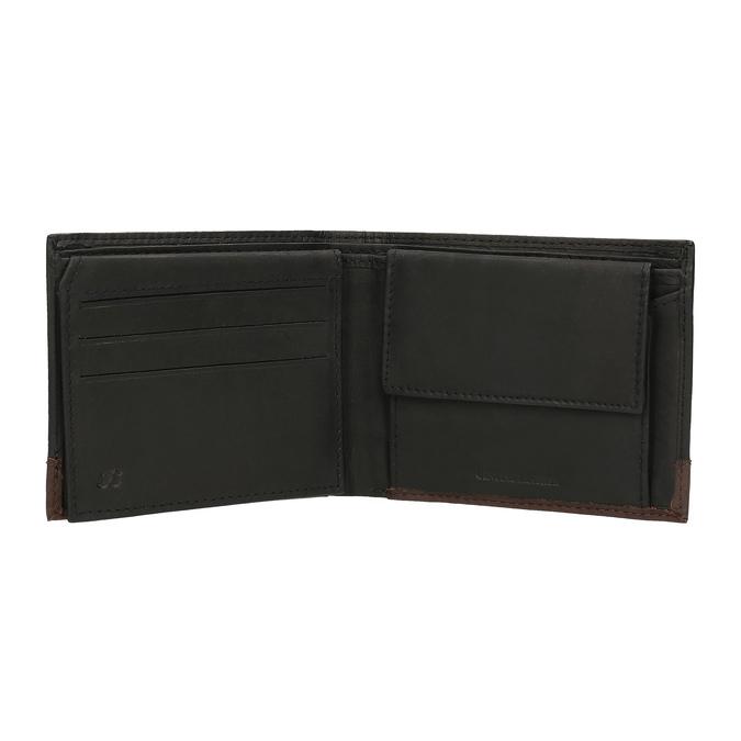 Pánská kožená peňaženka bata, čierna, 944-6149 - 15