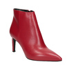 Kožená členková obuv červená bata, červená, 794-5651 - 13