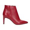Kožená členková obuv červená bata, červená, 794-5651 - 16