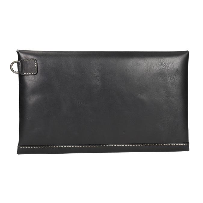 Čierna kožená listová kabelka bata, čierna, 966-6285 - 16