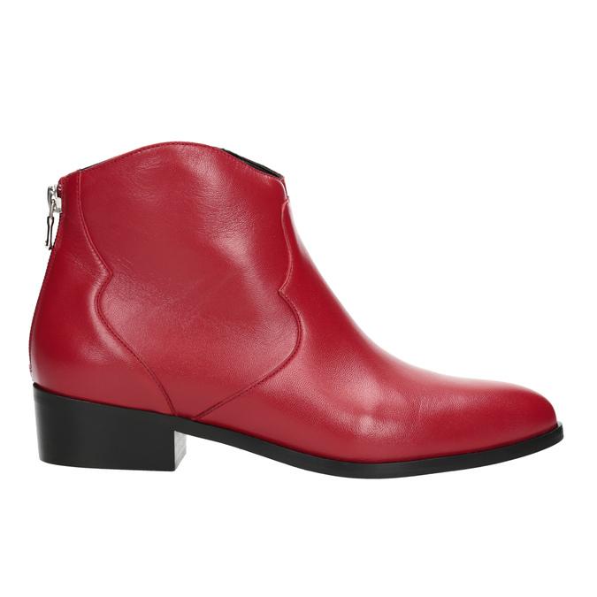 Červená členková obuv bata, červená, 594-5665 - 16