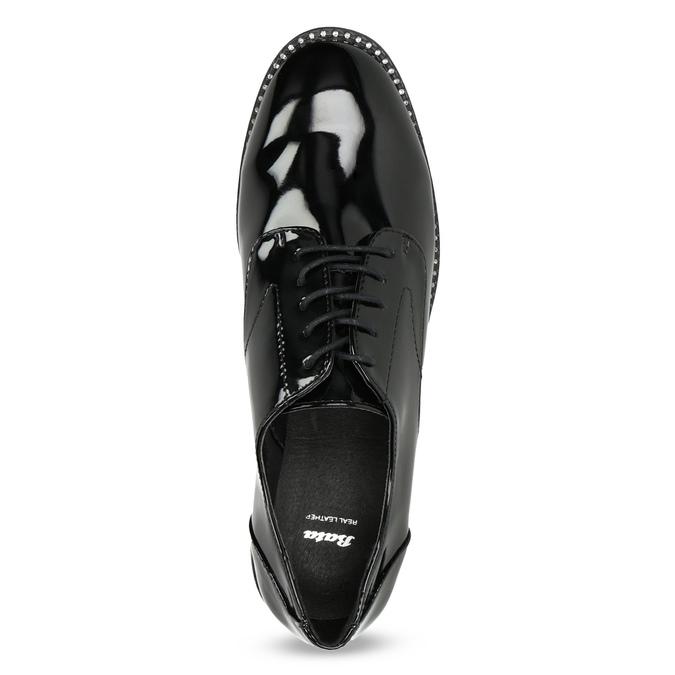Dámske lakované poltopánky bata, čierna, 521-6608 - 17