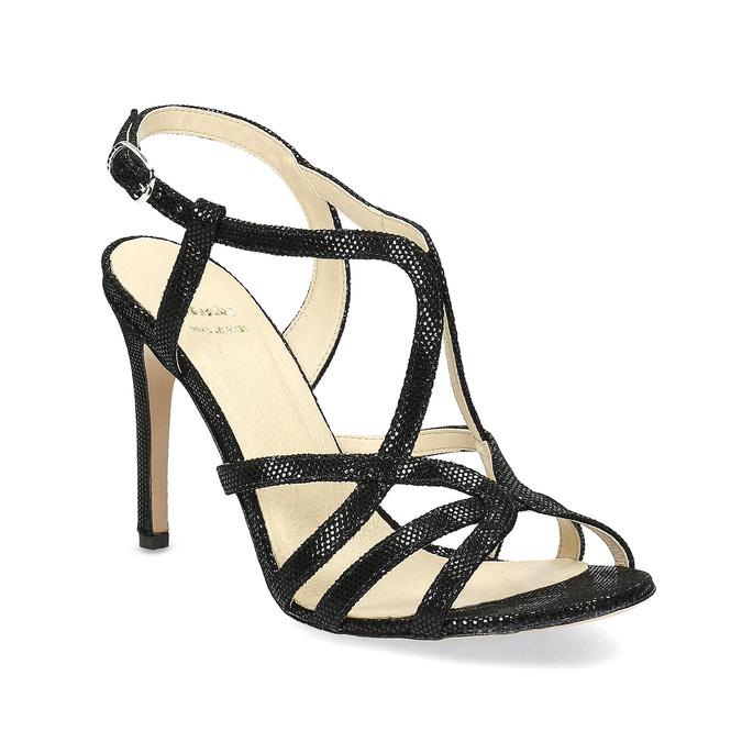 Dámske spoločenské sandále bata, čierna, 726-6648 - 13