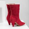 Červené kožené čižmy do špičky bata, červená, 793-5612 - 16