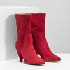 Červené kožené čižmy do špičky bata, červená, 793-5612 - 26