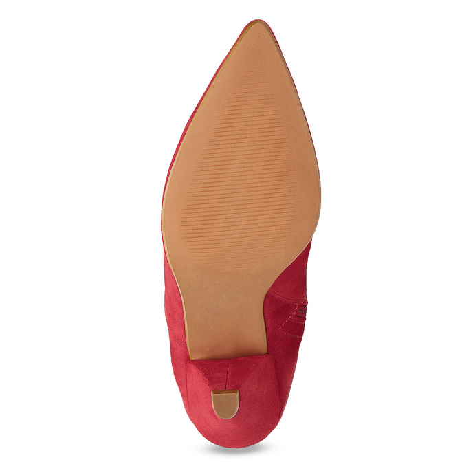 Červené kožené čižmy do špičky bata, červená, 793-5612 - 18