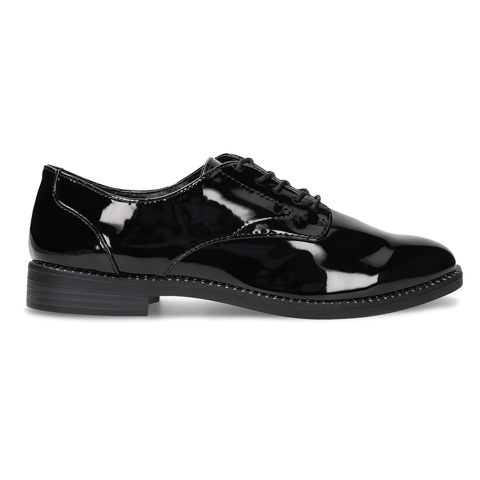 Dámske lakované poltopánky bata, čierna, 521-6608 - 19