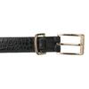 Čierny dámsky opasok so zlatou sponou bata, čierna, 951-6602 - 26