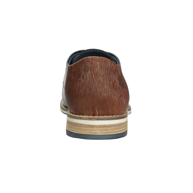 Pánske kožené Derby poltopánky bata, modrá, 826-9924 - 16