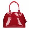 Červená lakovaná kabelka bata, červená, 961-5849 - 26