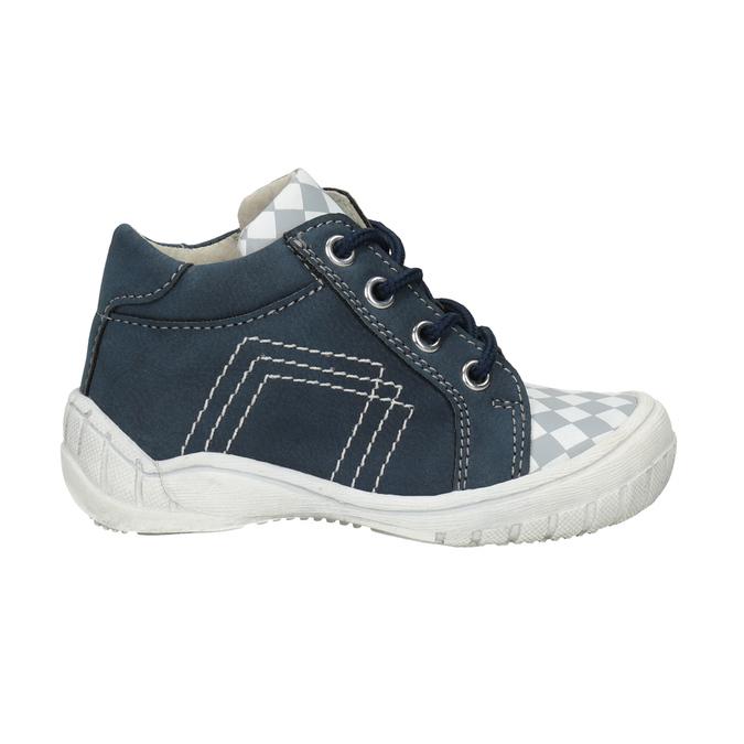 Detská členková obuv so vzorom bubblegummers, modrá, 111-9626 - 26