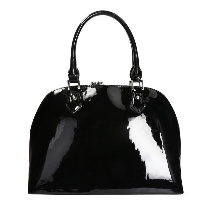 Čierna lakovaná kabelka bata, čierna, 961-6849 - 26