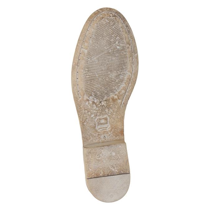 Členkové kožené čižmy s výšivkou bata, hnedá, 596-4686 - 19