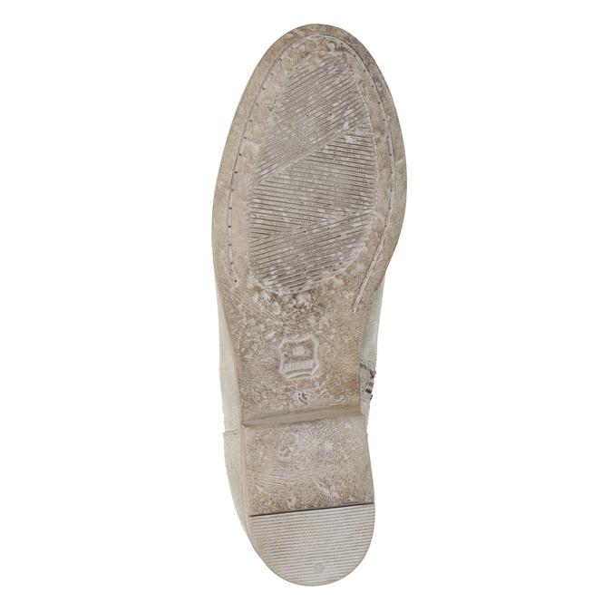 Čižmy s výšivkou a kamienkami bata, šedá, 596-2687 - 19