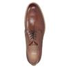 Kožené ležérne poltopánky hnedé bata, hnedá, 826-3853 - 15