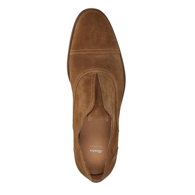 Oxford poltopánky z brúsenej kože bata, hnedá, 823-3618 - 15